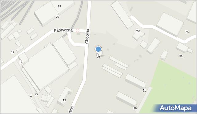 Gorlice, Chopina Fryderyka, 25, mapa Gorlic