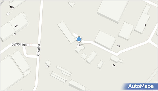 Gorlice, Chopina Fryderyka, 25h, mapa Gorlic
