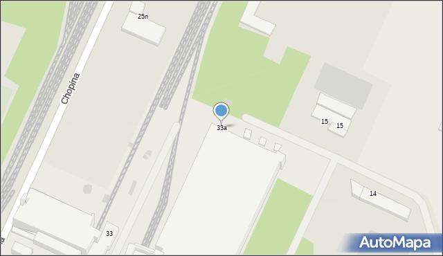 Gorlice, Chopina Fryderyka, 33a, mapa Gorlic
