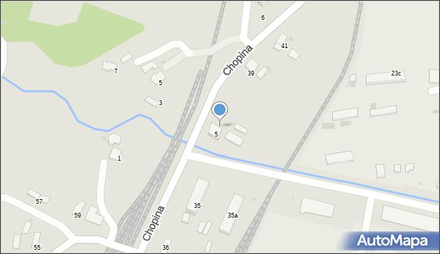 Gorlice, Chopina Fryderyka, 37, mapa Gorlic