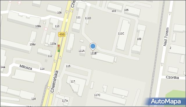 Grudziądz, Chełmińska, 111B, mapa Grudziądza