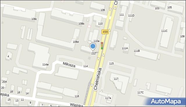 Grudziądz, Chełmińska, 112, mapa Grudziądza