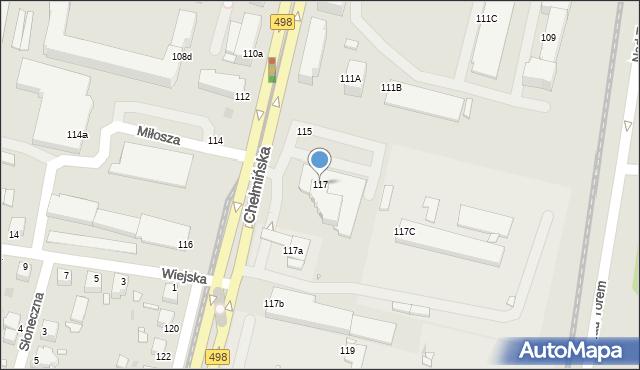 Grudziądz, Chełmińska, 117, mapa Grudziądza