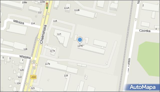 Grudziądz, Chełmińska, 117C, mapa Grudziądza
