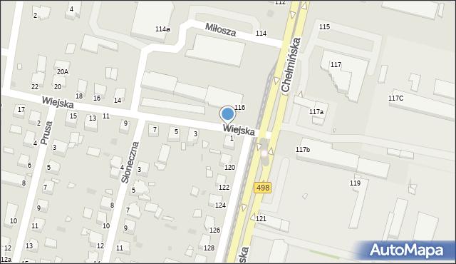 Grudziądz, Chełmińska, 118, mapa Grudziądza