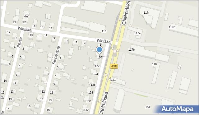 Grudziądz, Chełmińska, 120, mapa Grudziądza