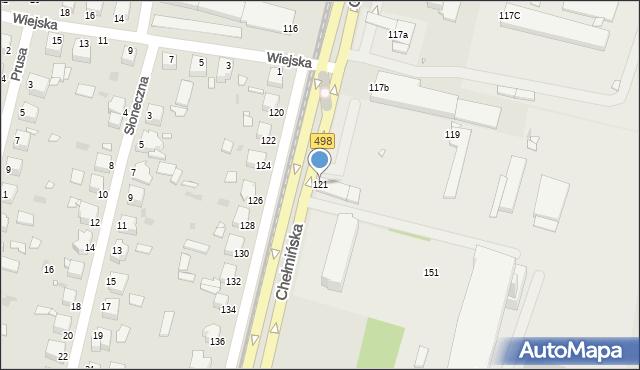 Grudziądz, Chełmińska, 121, mapa Grudziądza
