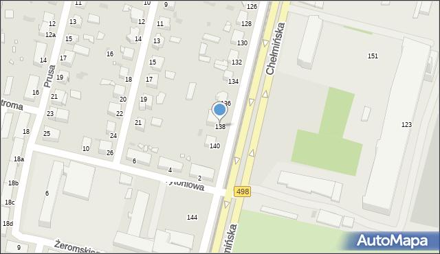 Grudziądz, Chełmińska, 138, mapa Grudziądza