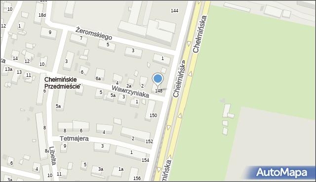 Grudziądz, Chełmińska, 148, mapa Grudziądza