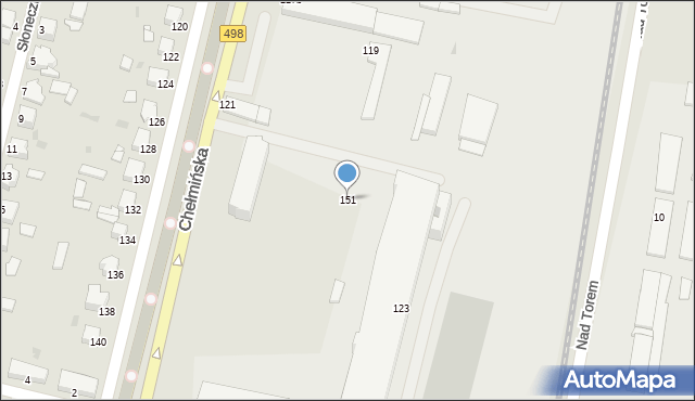 Grudziądz, Chełmińska, 151, mapa Grudziądza