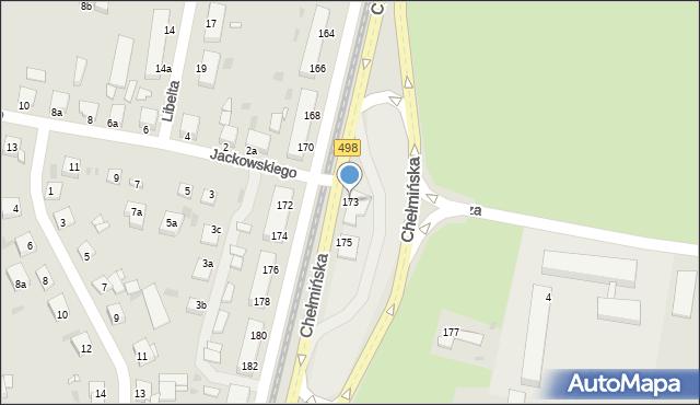 Grudziądz, Chełmińska, 173, mapa Grudziądza