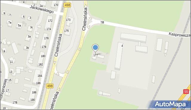 Grudziądz, Chełmińska, 177, mapa Grudziądza