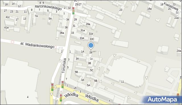 Grudziądz, Chełmińska, 1b, mapa Grudziądza