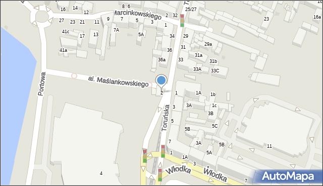 Grudziądz, Chełmińska, 2, mapa Grudziądza