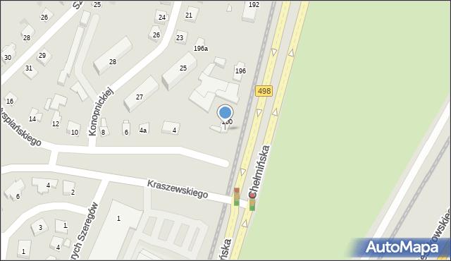 Grudziądz, Chełmińska, 202, mapa Grudziądza