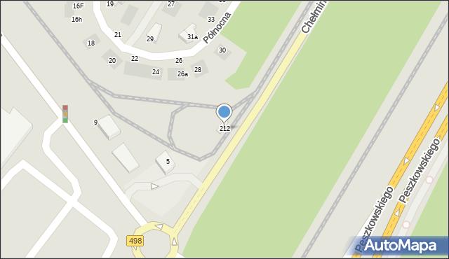 Grudziądz, Chełmińska, 212, mapa Grudziądza