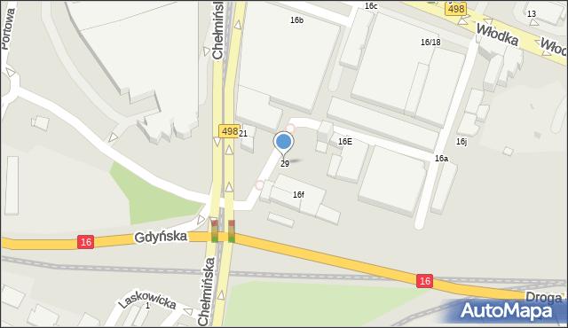 Grudziądz, Chełmińska, 29, mapa Grudziądza