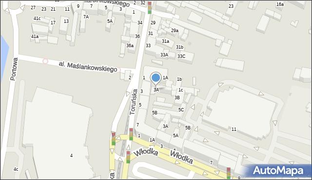 Grudziądz, Chełmińska, 3A, mapa Grudziądza