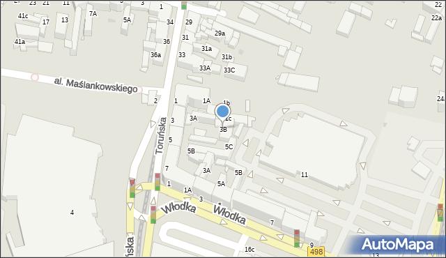 Grudziądz, Chełmińska, 3B, mapa Grudziądza