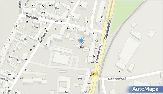 Grudziądz, Chełmińska, 40A, mapa Grudziądza