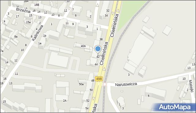Grudziądz, Chełmińska, 42, mapa Grudziądza