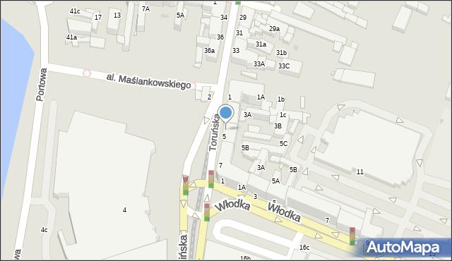 Grudziądz, Chełmińska, 5A, mapa Grudziądza