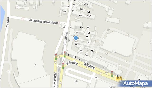 Grudziądz, Chełmińska, 5B, mapa Grudziądza