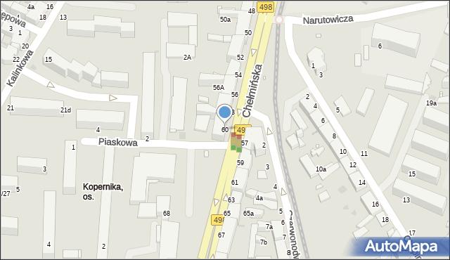 Grudziądz, Chełmińska, 60, mapa Grudziądza