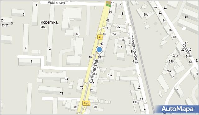 Grudziądz, Chełmińska, 69, mapa Grudziądza