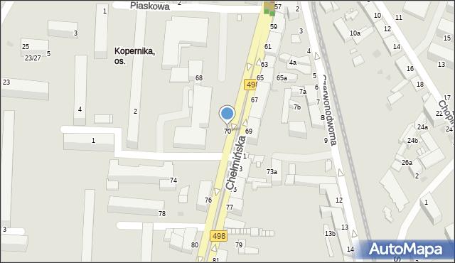 Grudziądz, Chełmińska, 70, mapa Grudziądza