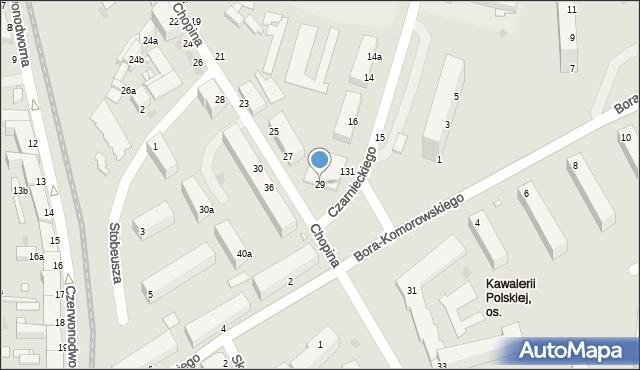 Grudziądz, Chopina Fryderyka, 29, mapa Grudziądza