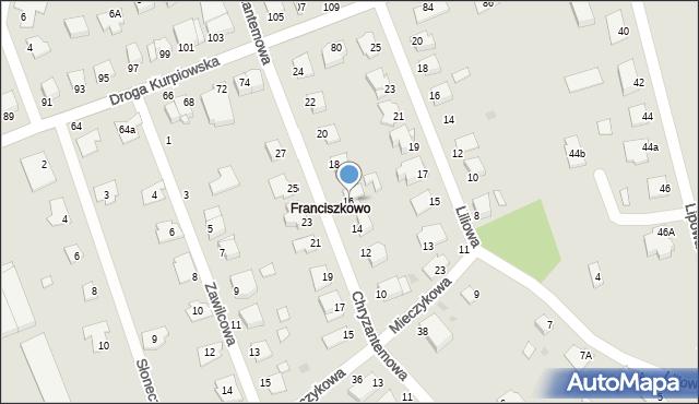 Grudziądz, Chryzantemowa, 16, mapa Grudziądza