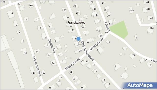 Grudziądz, Chryzantemowa, 17, mapa Grudziądza
