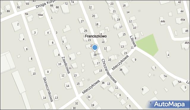 Grudziądz, Chryzantemowa, 19, mapa Grudziądza