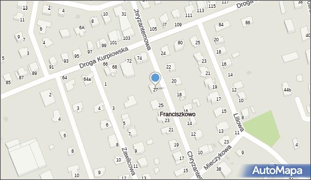 Grudziądz, Chryzantemowa, 27, mapa Grudziądza
