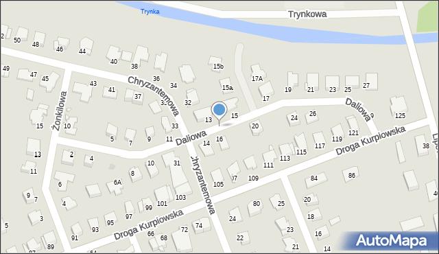 Grudziądz, Chryzantemowa, 66, mapa Grudziądza