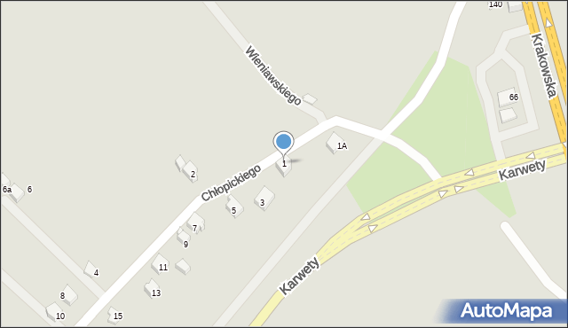 Jaworzno, Chłopickiego Józefa, gen., 1, mapa Jaworzno