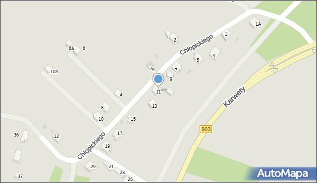 Jaworzno, Chłopickiego Józefa, gen., 11, mapa Jaworzno