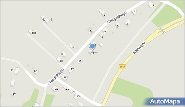 Jaworzno, Chłopickiego Józefa, gen., 13, mapa Jaworzno