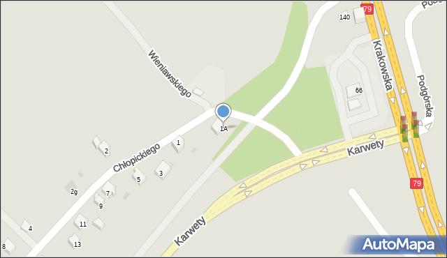 Jaworzno, Chłopickiego Józefa, gen., 1A, mapa Jaworzno