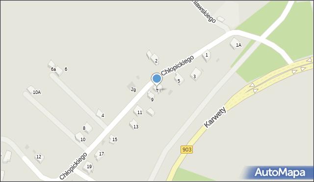 Jaworzno, Chłopickiego Józefa, gen., 7, mapa Jaworzno