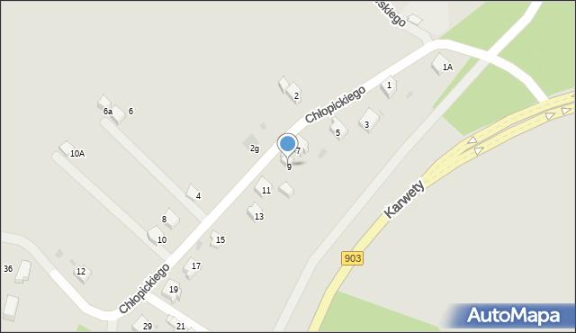 Jaworzno, Chłopickiego Józefa, gen., 9, mapa Jaworzno