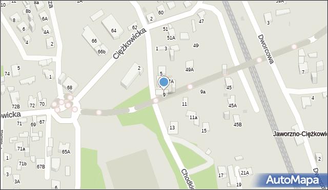 Jaworzno, Chodkiewicza Jana Karola, hetm., 9, mapa Jaworzno