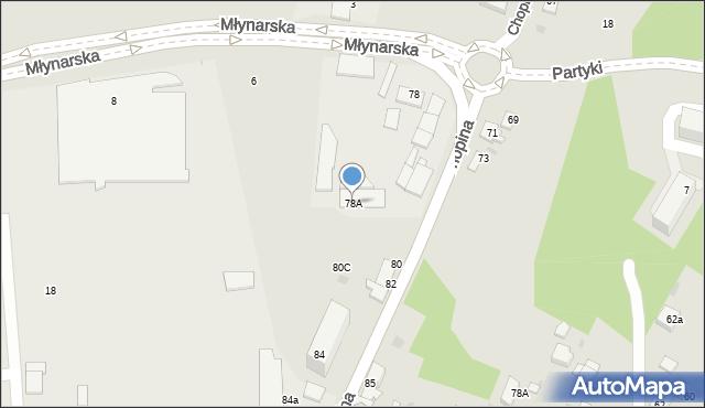 Jaworzno, Chopina Fryderyka, 78A, mapa Jaworzno