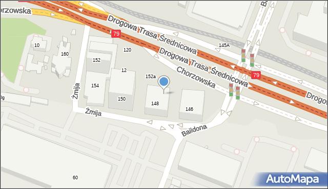 Katowice, Chorzowska, 148c, mapa Katowic