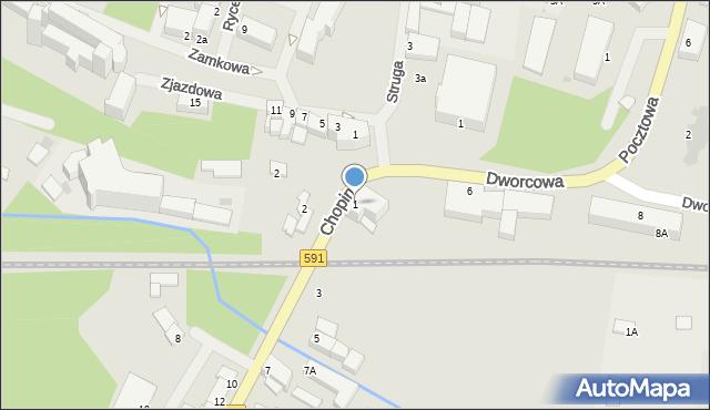 Kętrzyn, Chopina Fryderyka, 1, mapa Kętrzyn