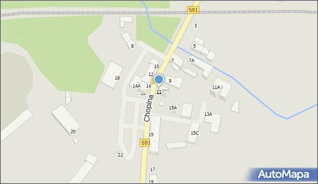 Kętrzyn, Chopina Fryderyka, 11, mapa Kętrzyn