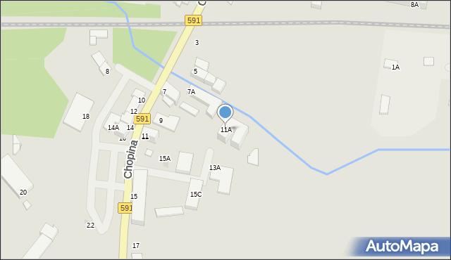 Kętrzyn, Chopina Fryderyka, 11A, mapa Kętrzyn