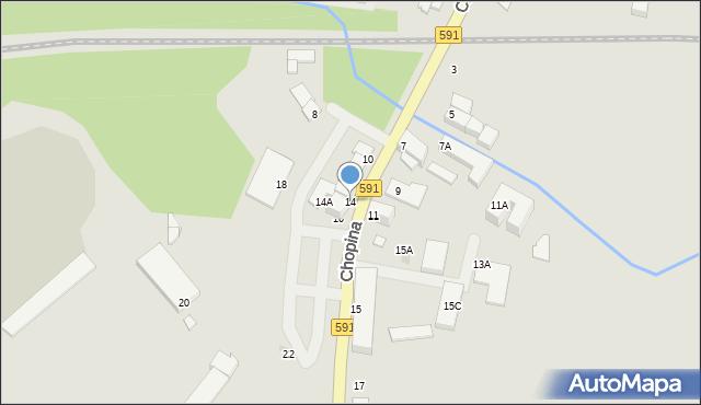 Kętrzyn, Chopina Fryderyka, 14, mapa Kętrzyn