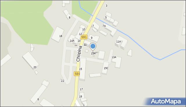 Kętrzyn, Chopina Fryderyka, 15A, mapa Kętrzyn